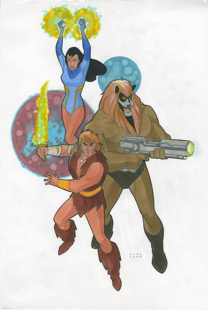 Phil Noto - Thundarr, Princess Ariel and Ookla the Mok