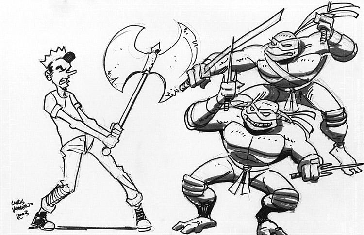Chris Moreno - Jughead vs TMNT